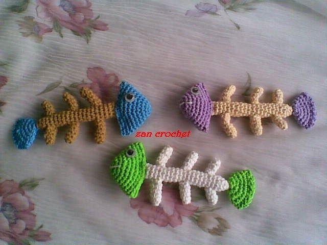 Free Amigurumi Patterns Uk : Fish bone free amigurumi pattern here zancrochet