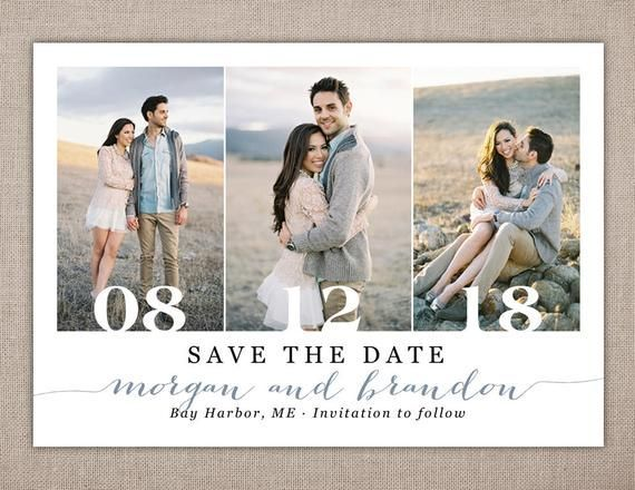 Photo of SAVE THE DATE Printable Card Save the Date Postcard | Etsy