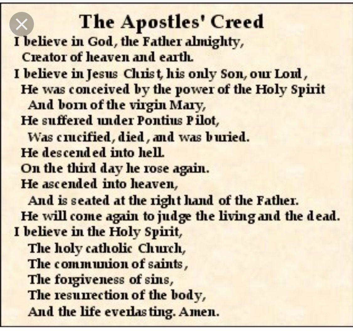 The Apostles Creed A Major Part Of My Faith