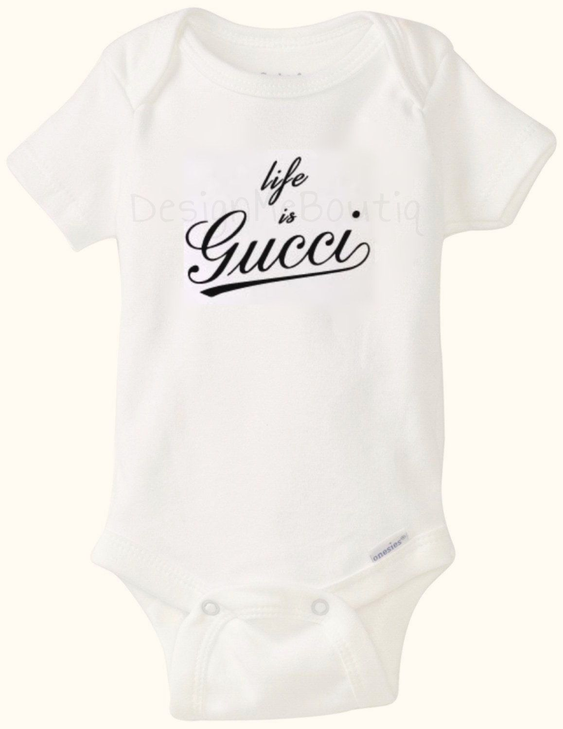 fc57cf7b4 Life is Gucci inspired Baby Onesie Onesies Gerber Baby Shower Gift Infant  bodysuit fashion vogue baby unisex boy girl designer GG hot new