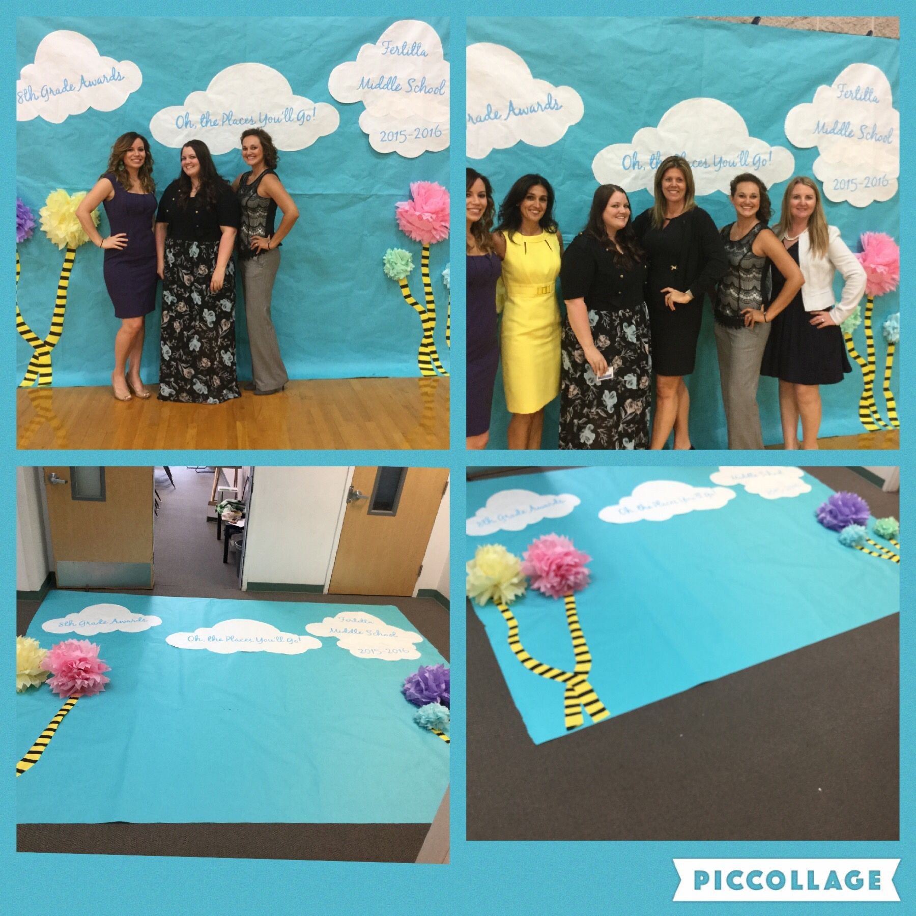 Oh The Places You 39 Ll Go Photo Backdrop Awards Night Backdrop In 2020 Kindergarten Graduation Party Preschool Graduation Party Kindergarten Graduation