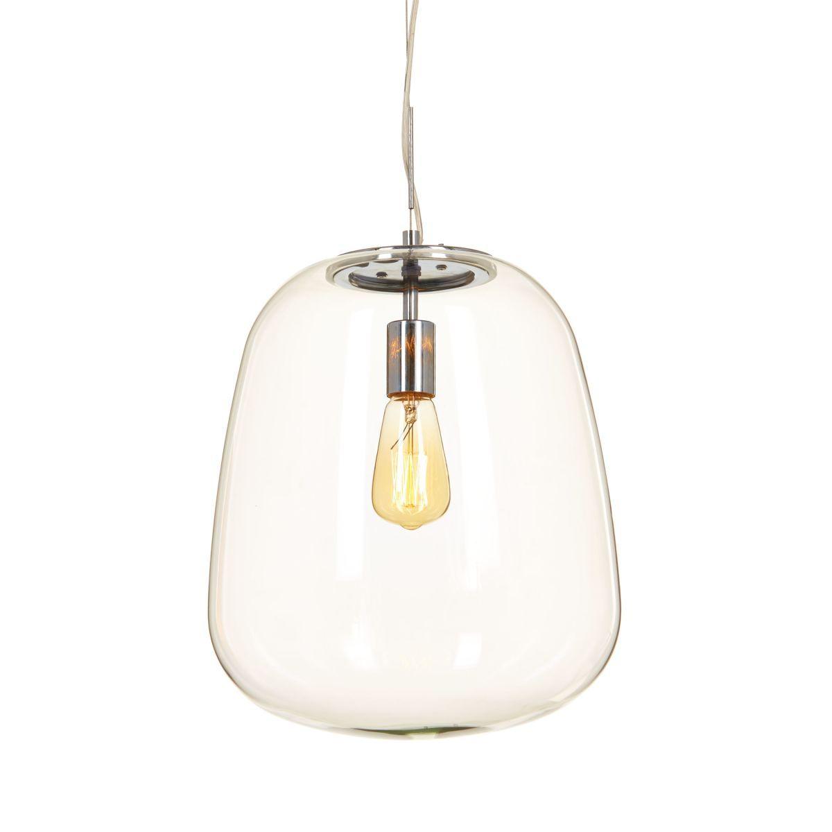 Fabulous  sthetisch bereichert diese formsch ne Lampe im schlichten glasklaren Design ihre Umgebung mit edler Optik wie mit