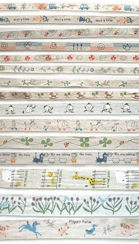linen ribbons from the japanese zakka artist, shinzi katoh, I\'ve ...