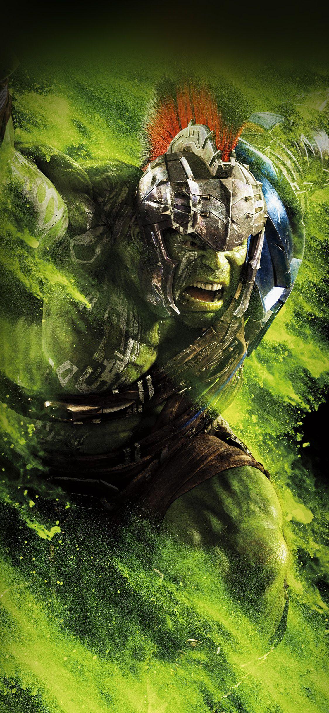 Iphonex Wallpaper Be57 Hulk Ragnarok Red Film Marvel Hero Art