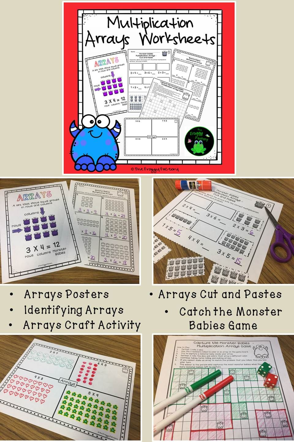 Multiplication Arrays Worksheets NO PREP Printables – Math Factory Worksheets