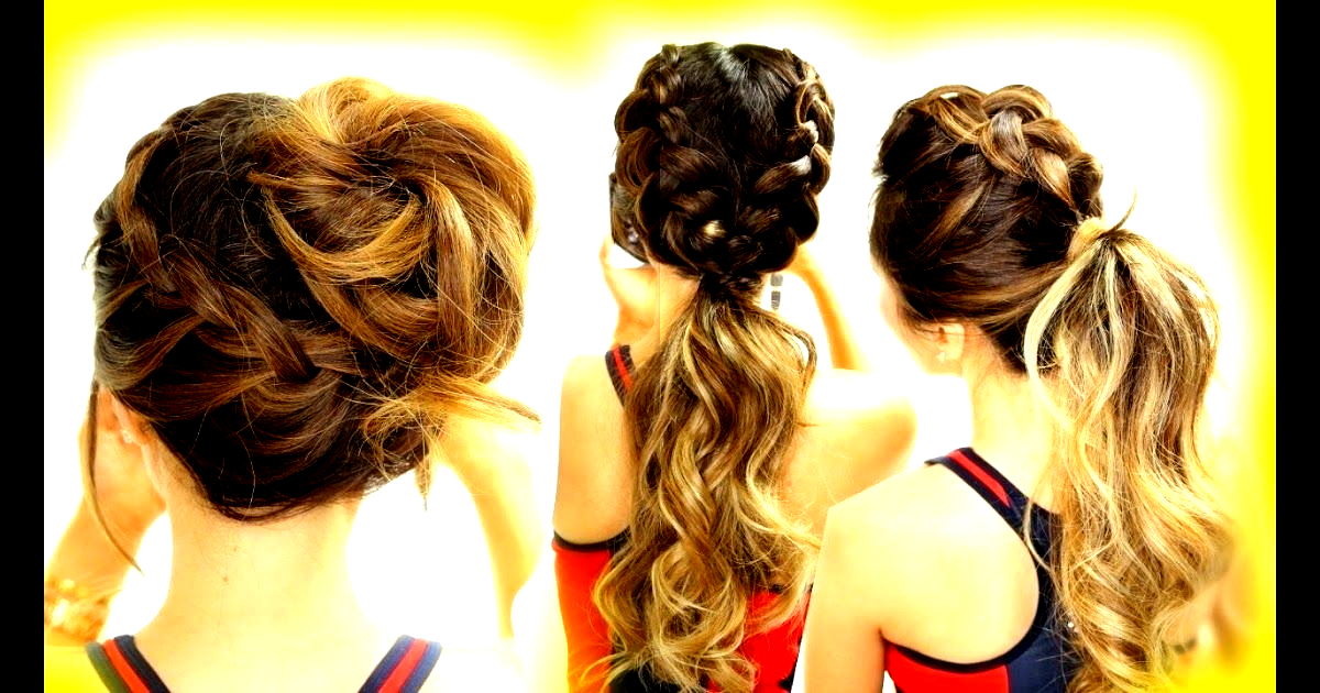 3 Cutest Workout Hairstyles Braid School Hairstyles For Long Medium Hair Large Thick Curly C In 2020 Braided Hairstyles Easy Braided Hairstyles New Braided Hairstyles