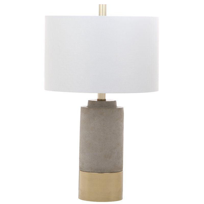 Choudhury 24 Table Lamp Brown Table Lamps Grey Table Lamps Concrete Table Lamp