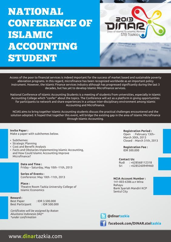 Poster, National Conference of Islamic Accounting Students by @mazzameS01 of S-Media International.