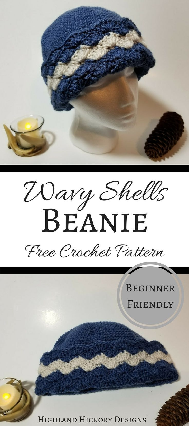 Wavy Shells Beanie | Free Crochet Patterns from My Favorite Bloggers ...