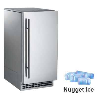 Scotsman Scn60ga1ss 14 7 8 W Nugget Undercounter Ice Maker 85 Lbs Day Air Cooled Nugget Ice Maker Dwell Kitchen Undercounter Ice Makers