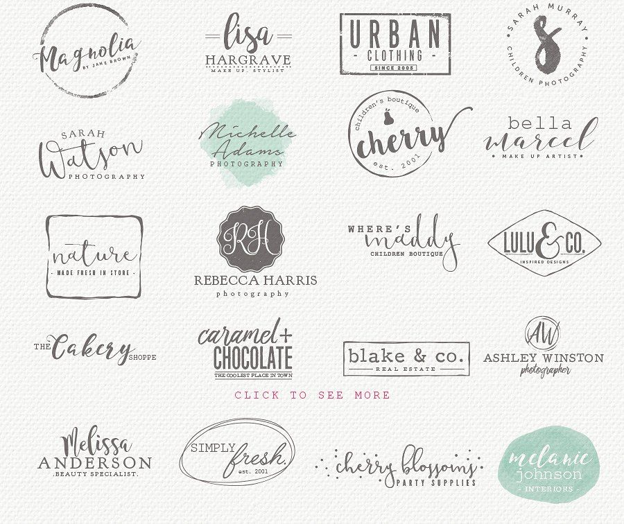 Logo Set 6 Logo set, Branding design logo, Creative logo