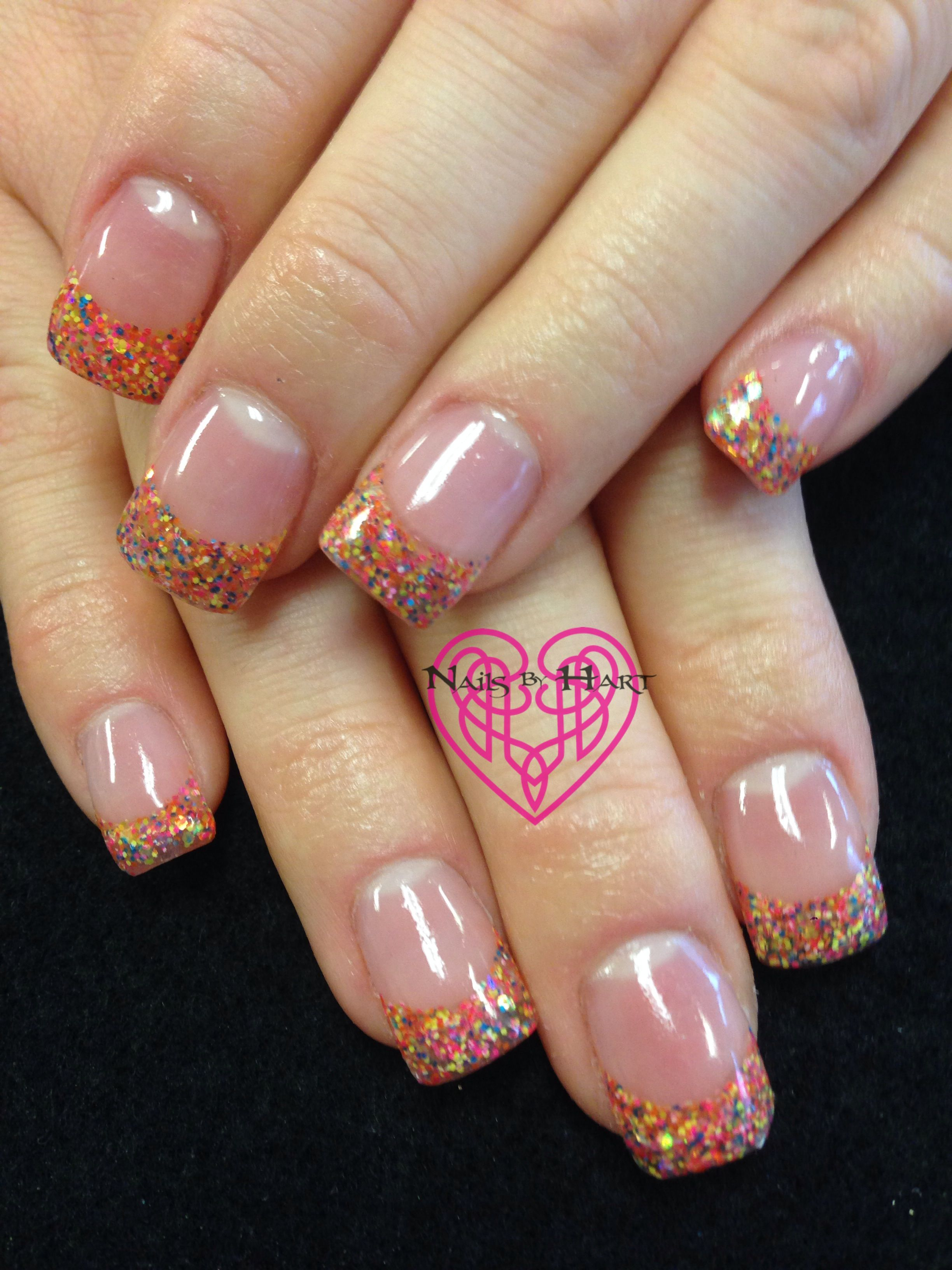 Confetti French Nails by Katie Hart Eugene,Or 541-730-2662 www ...