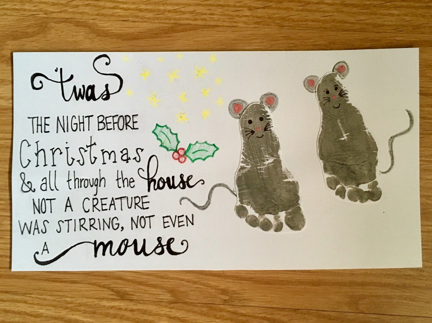 Christmas Footprint Art Diy Twas The Night Before