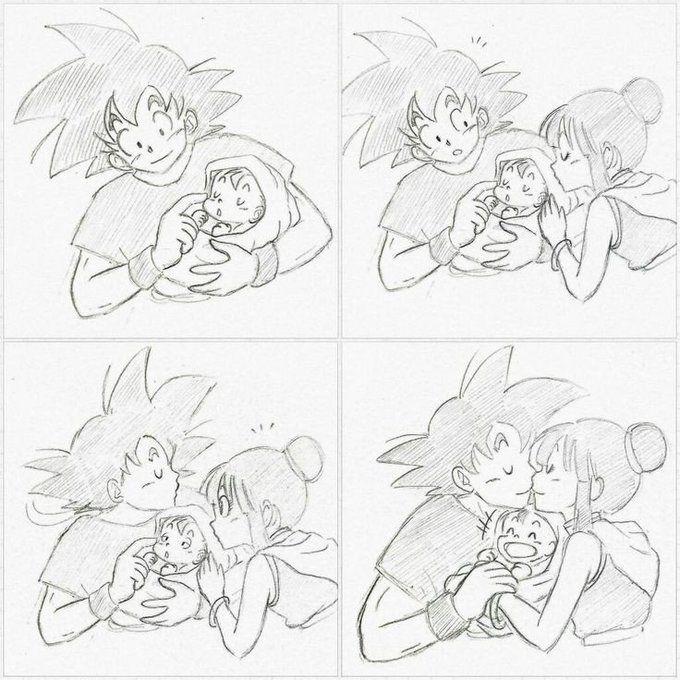 Pin op Goku and his Family pics