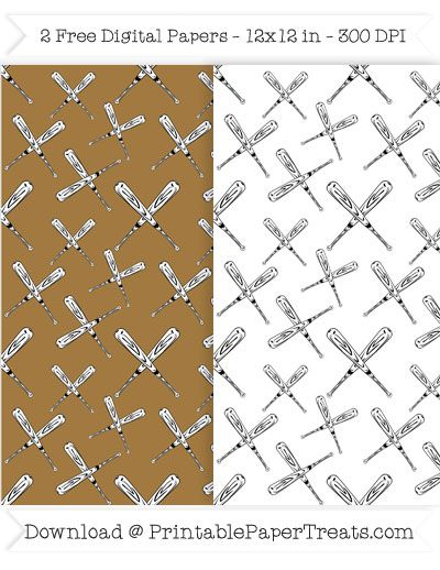 Free Printable Baseball Bats Digital Papers Sports Pattern Papers