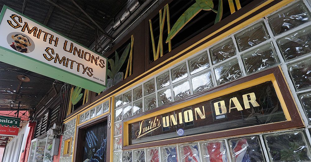 Smith's Union Bar in Honolulu is the oldest bar in Hawaii. Established 1935.