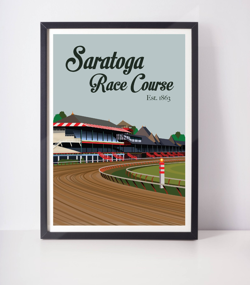 Saratoga Race Course Illustration Track Horses Racing | Etsy