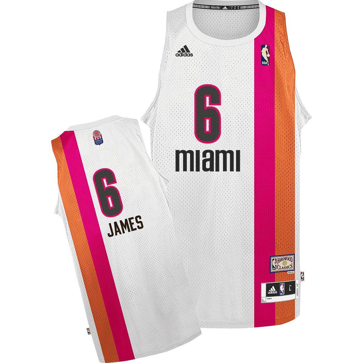 20937f66f2c Miami Floridians Lebron James Throwback Jersey Nba T Shirts