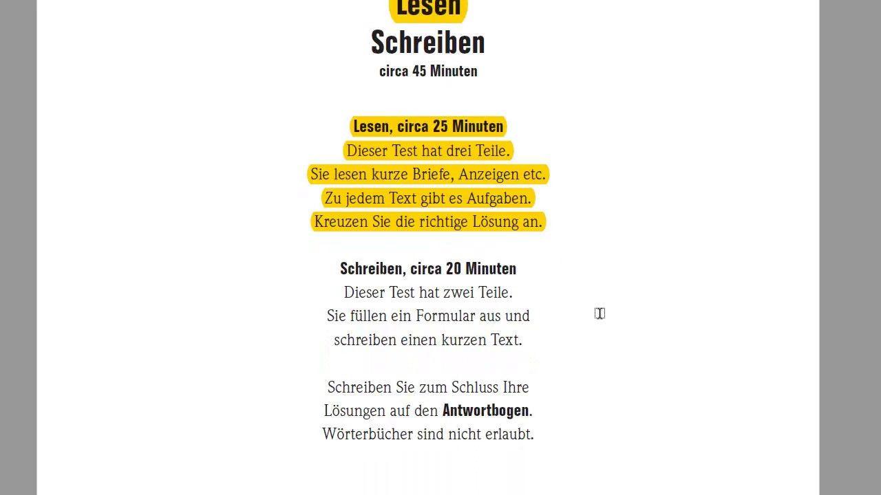 подготовка к экзамену Start Deutsch 1 A1 Lesen чтение Briefe 9