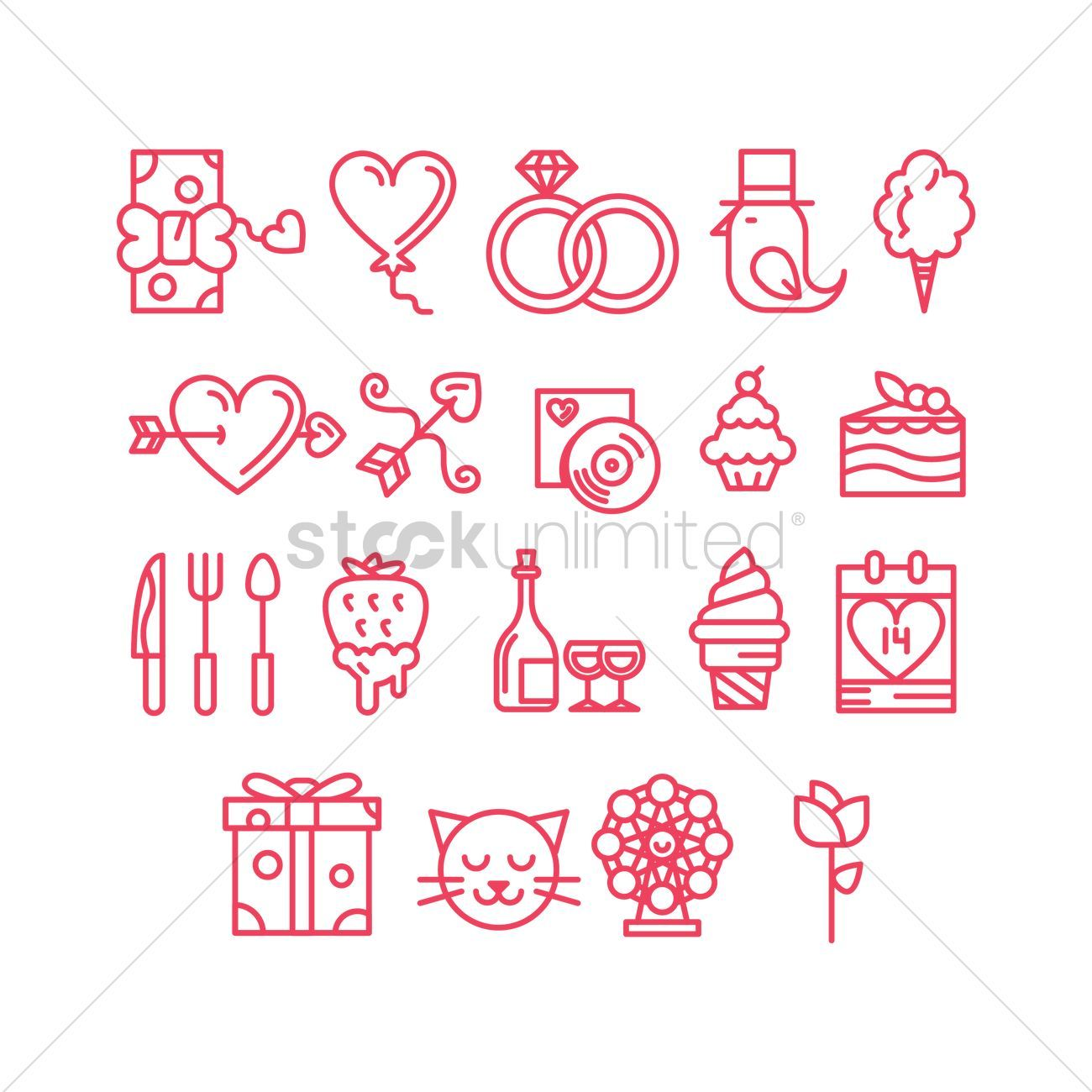 Valentines day icons stock vector
