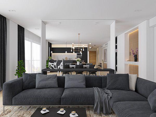 Dark Living Rooms Room Tv Ideas Walls Apartment Design Modern Interiors Eco Green Interior City