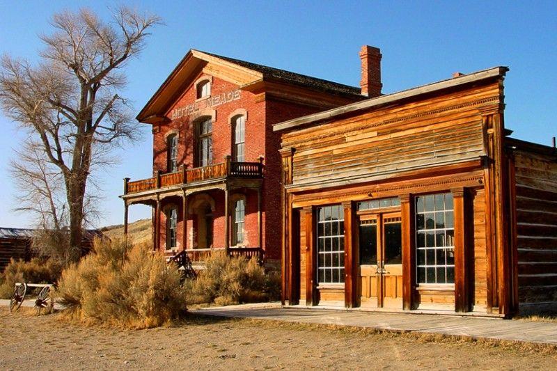 Conrad Montana Main Street Skinner Saloon And Hotel Meade At Bannack State Park