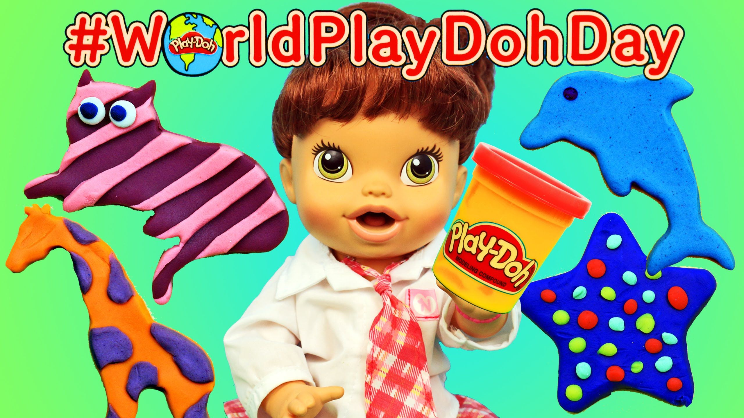 Baby Alive Lucy Diy Play Doh Animals Creations For Worldplaydohday By Disneycartoys Play Doh Animals Diy Play Doh Baby Alive