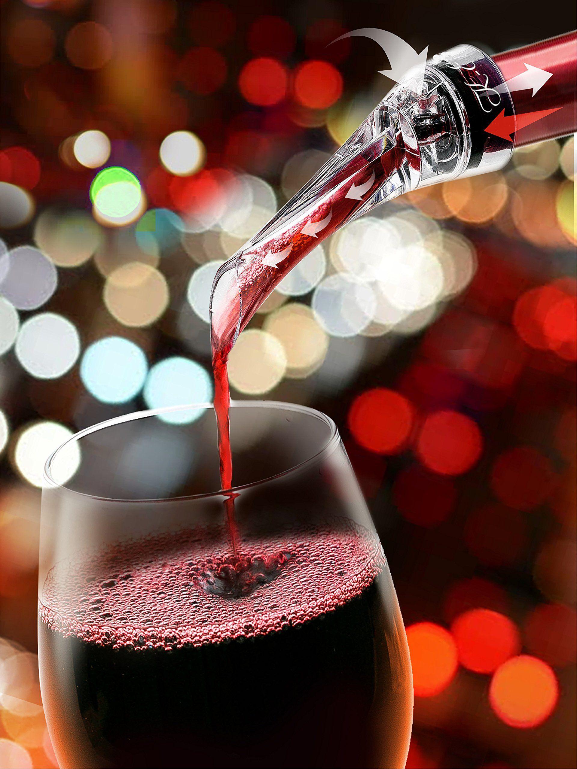 Mini Fashion Transparent Acrylic Travel Bar Red Wine Aerator Decanter Pourer Set