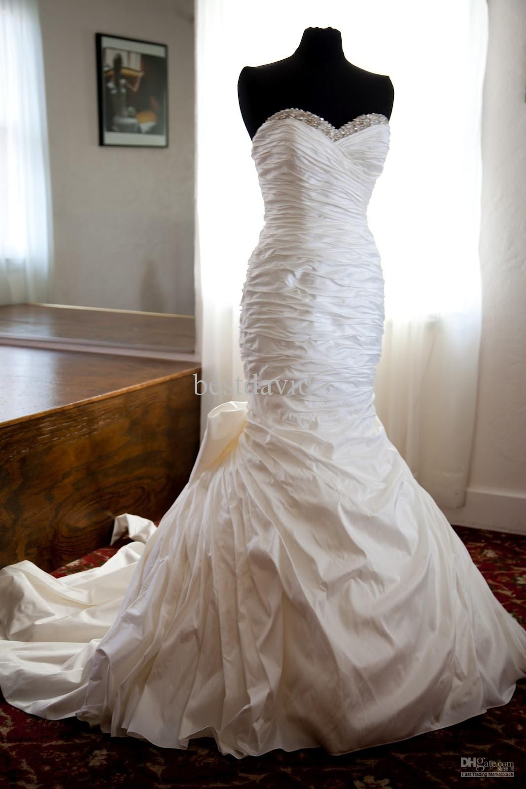 2013 Bespoke Ian Stuart Mermaid Miami Wedding Dress Sweetheart