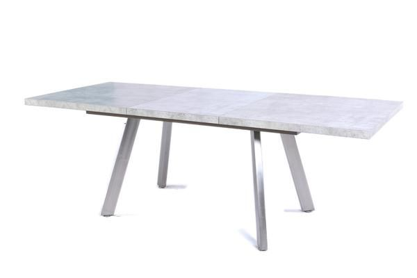 Lennon Modern Concrete Gray Stone Extendable Dining Table - Extendable concrete dining table