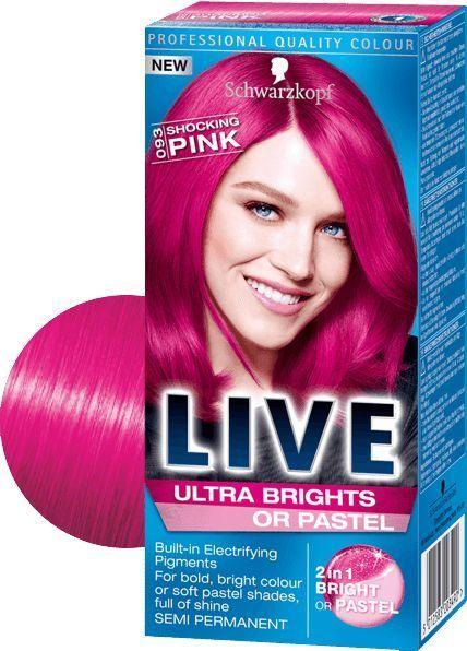 Schwarzkopf Live Ultra Brights Or Pastel 2 In 1 Semi-Permanent Dye  093 Pink cec04e926d8