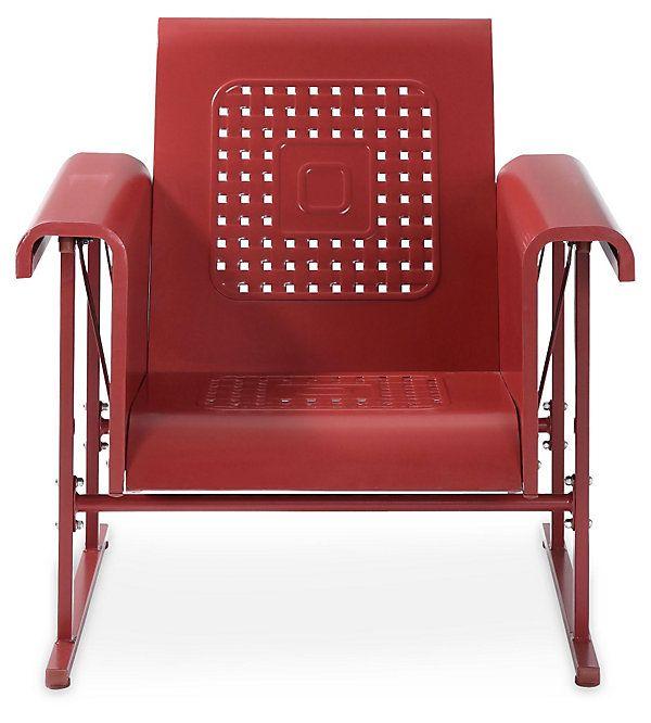 One Kings Lane Crosley Veranda Single Glider Chair Red Outdoor Glider Chair Glider Chair Furniture