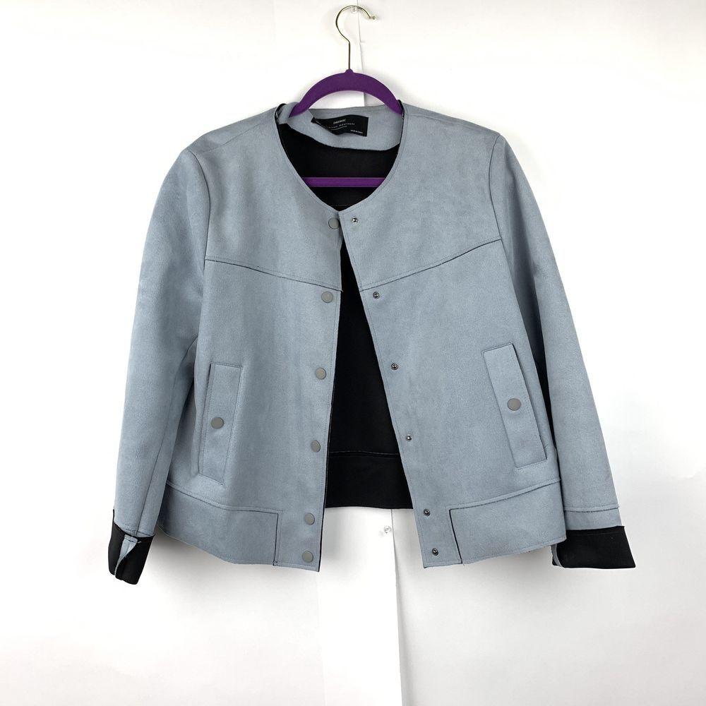 Zara Basic Womens Light Blue Jacket Faux Suede Sz Xl Fashion Clothing Shoes Accessories Womensclothing Coatsjacke Light Blue Jacket Jackets Coats Jackets [ 1000 x 1000 Pixel ]