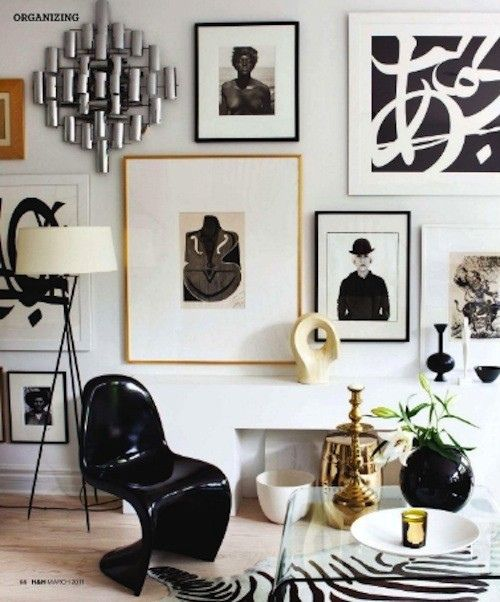 black and white idea for working space home office area