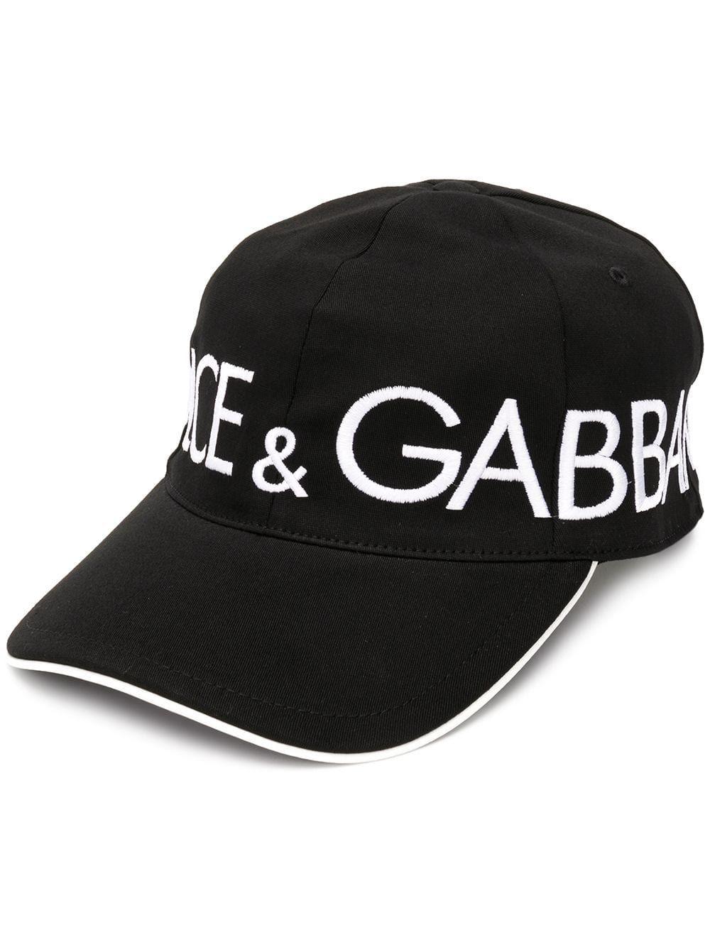 DOLCE   GABBANA DOLCE   GABBANA LOGO BASEBALL CAP - BLACK.  dolcegabbana fe028eece74