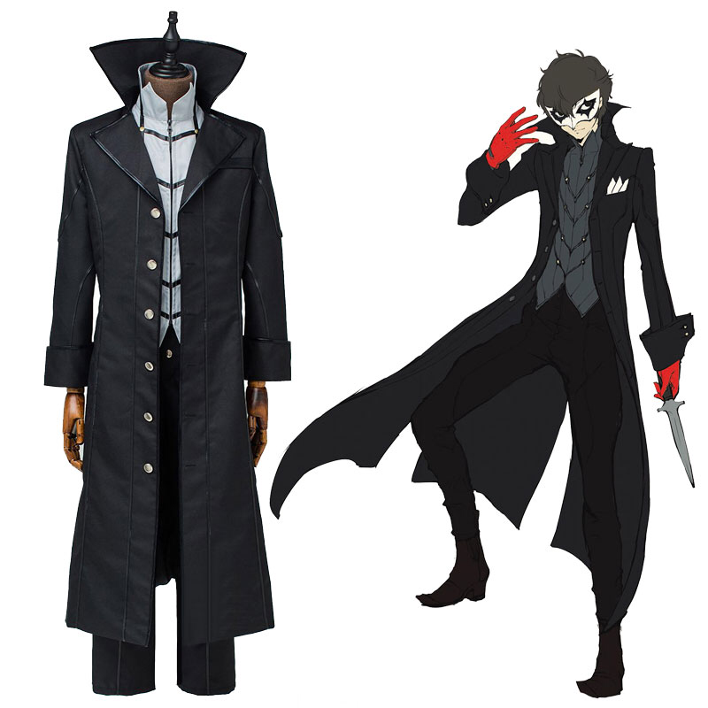 Custom Made Cosplay Costume Full Set Persona 5 Joker Protagonist Outfit Suit