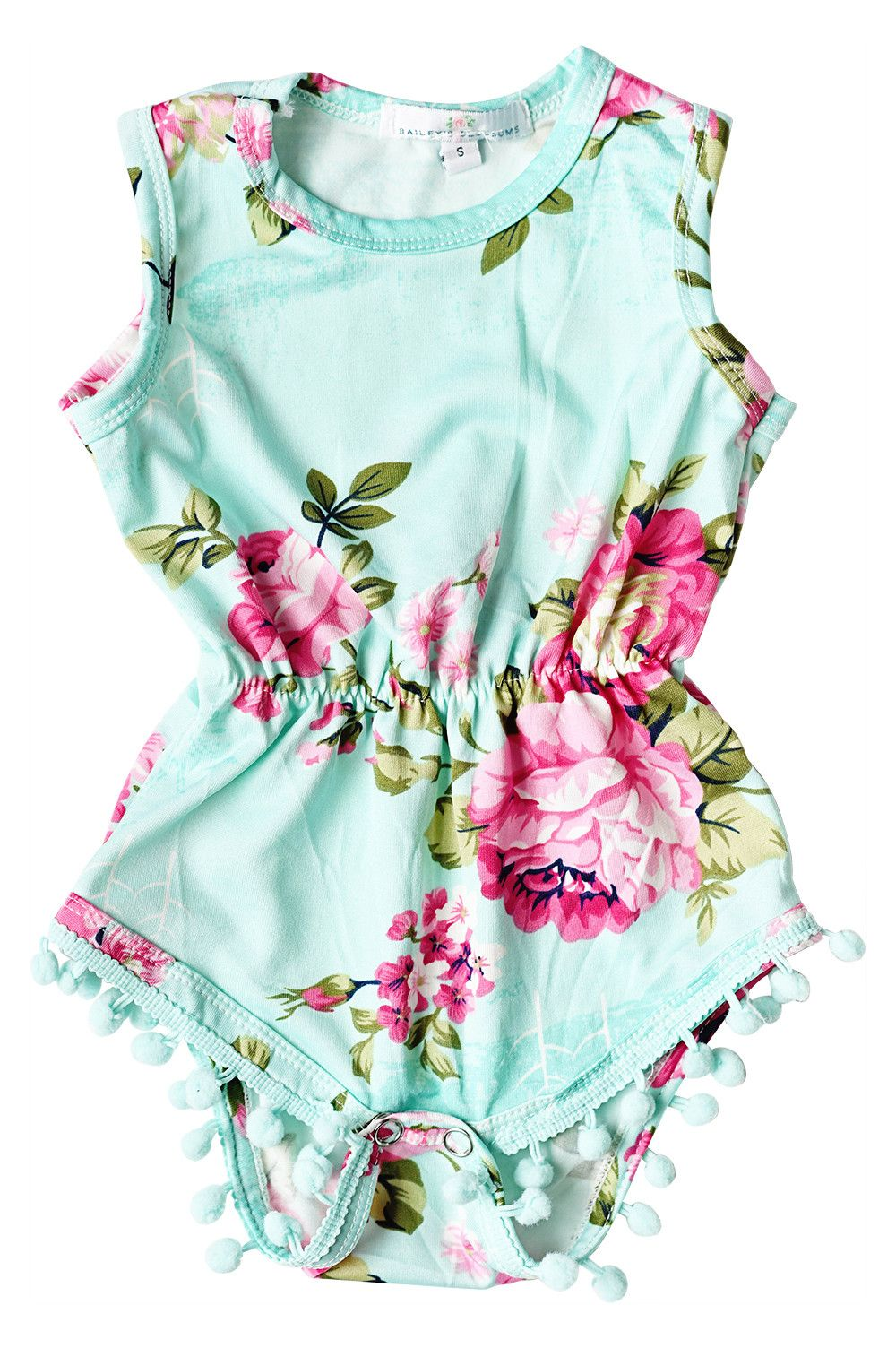90871fdebb Sweet Mint Pom Pom Romper from More Than Me | More Than Me ...