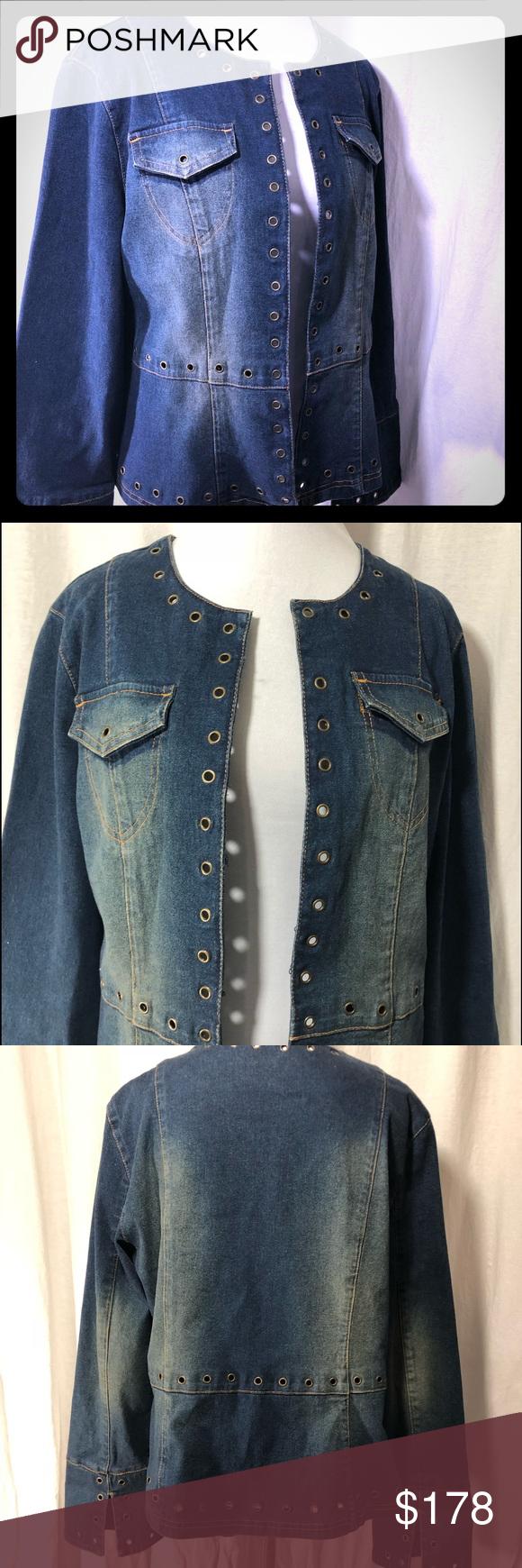 Sandro Denim Jean Jacket Large Chambray Jacket Lined Denim Jacket Jean Jacket Women [ 1740 x 580 Pixel ]