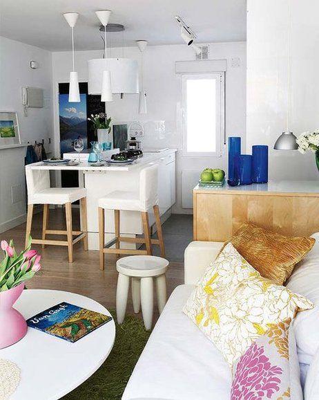decorar casas pequeas saln cocina y un mini comedor - Como Decorar Una Casa Pequea