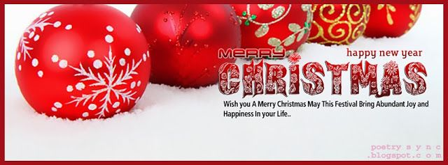 Facebook Cover Red Balls Christmas Facebook Timeline Christmas ...