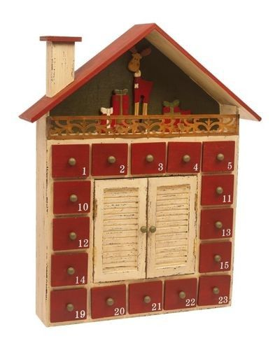 Kalendarz Adwentowy Zimowy Domek 5747684728 Oficjalne Archiwum Allegro Wooden Advent Calendar Advent Calendar Advent Calenders