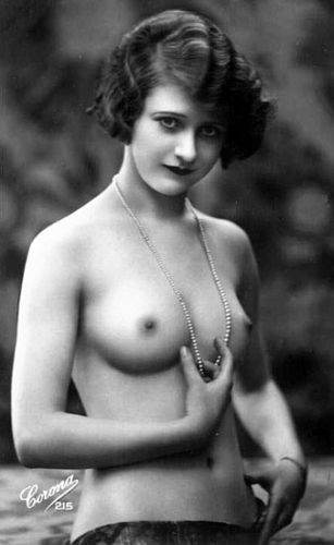 Vintage flat chested girls