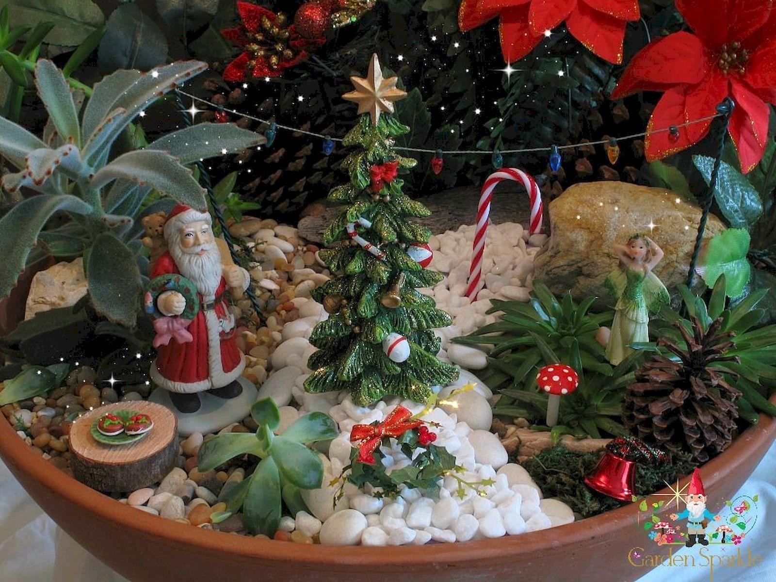 45 Beautiful Christmas Fairy Garden Decor Ideas
