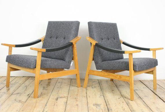 Mid Century Chair Scandinavian Armchair Vintage Lounge Chair Mcm Chair Chic Black Leather F Scandinavian Armchair Black Leather Furniture Vintage Lounge Chair