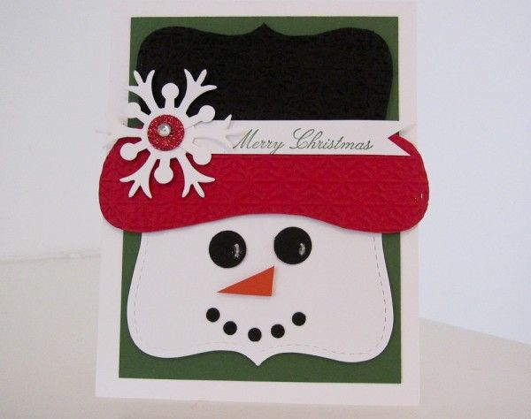 Stampin Up Top Note Snowman photo