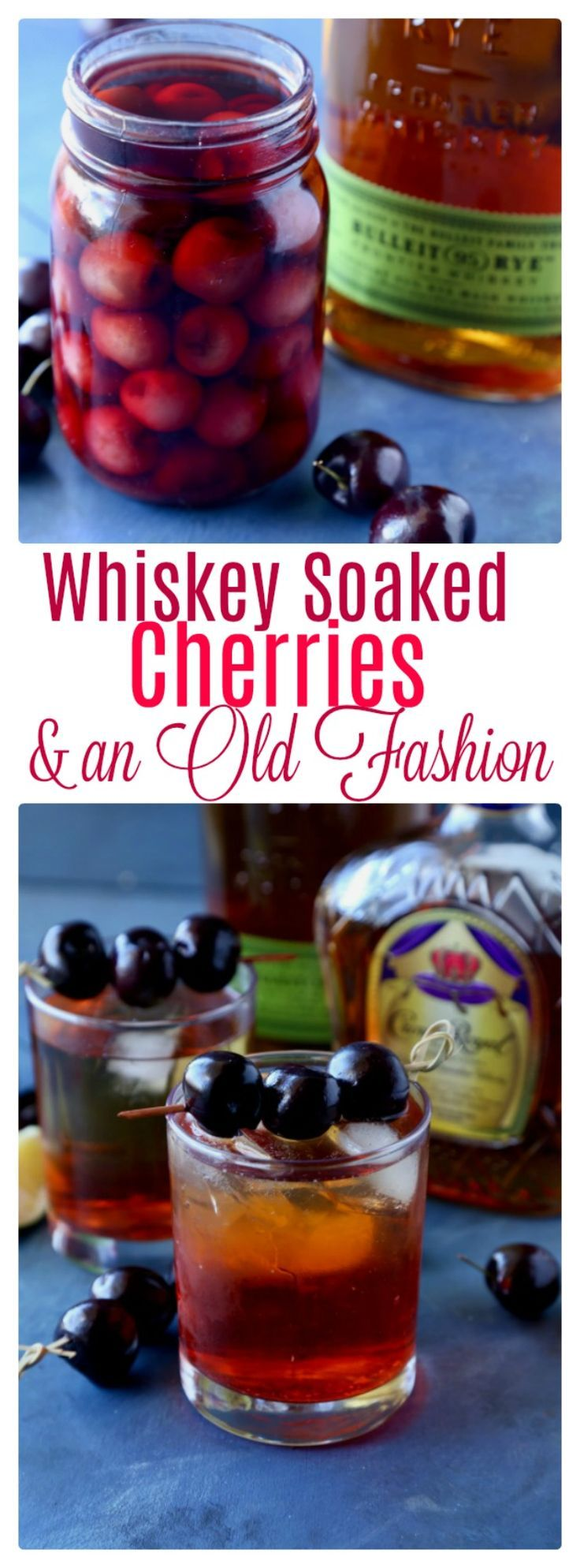 Whiskey Soaked Cherries |   Perfect in cocktails, over ice cream, or just to eat as a treat! | | See this and other delicious recipes at