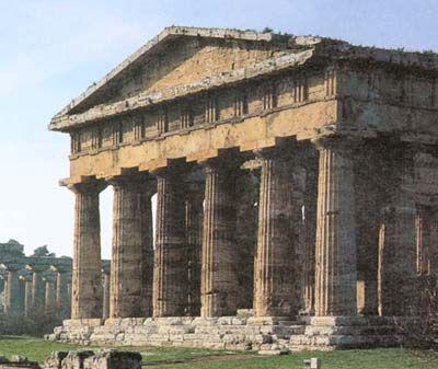 ARCHAIC DORIC ARCHITECTURE Temple of Poseidon c 460 BC Best