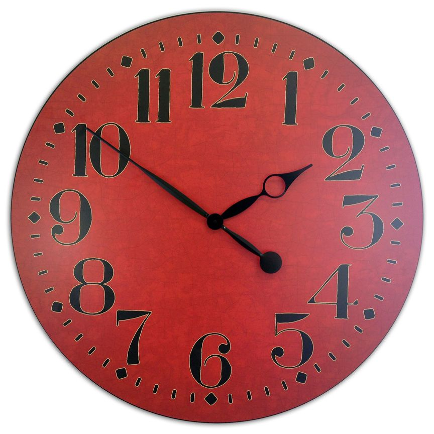 Houston Red Clock