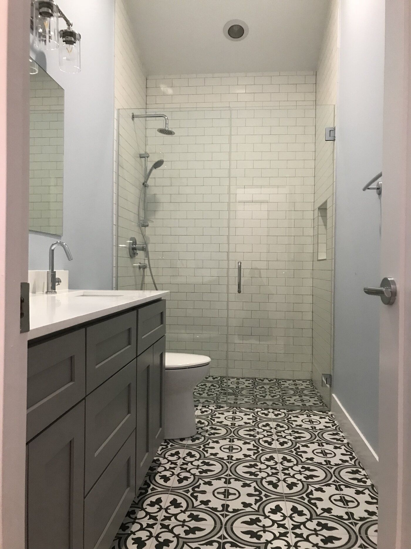 "Artea 5"" x 5"" Porcelain Patterned Wall & Floor Tile  Bathrooms"