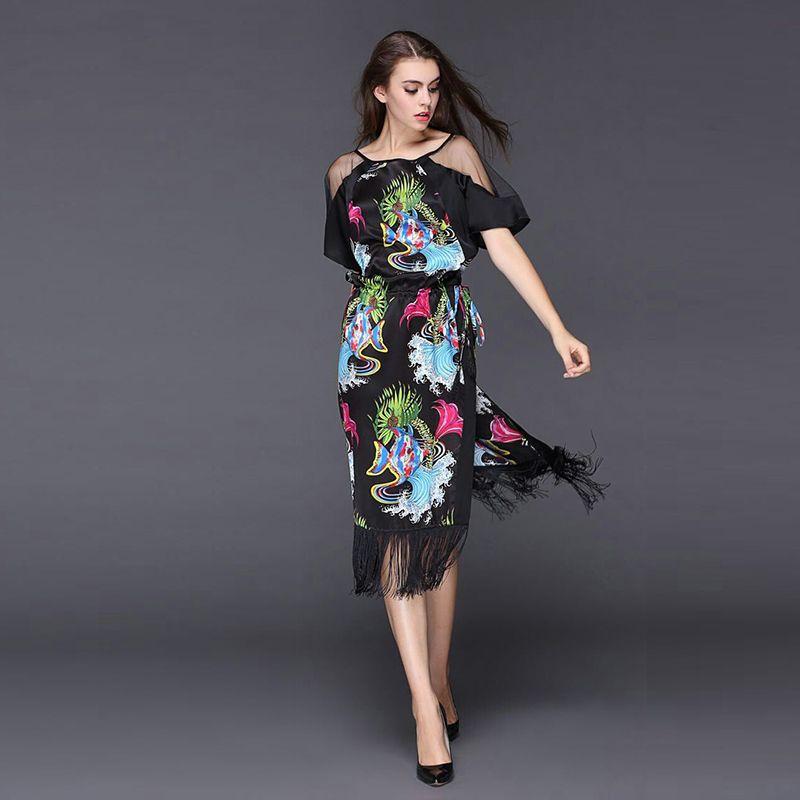 Платье рукав раструб